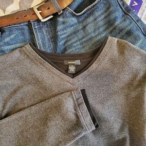 Medium Grey V-Neck Sweater